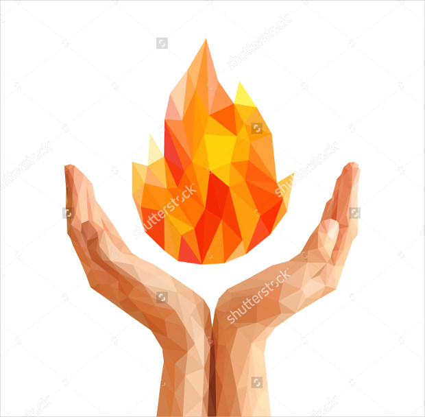 Polygon Olympic Flame Picture