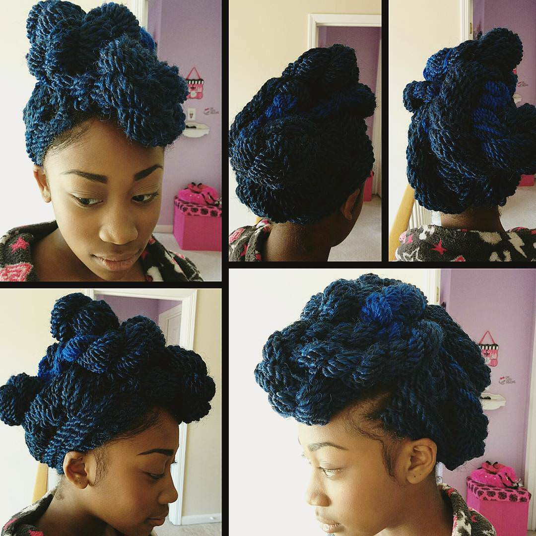 blue colored natural twist