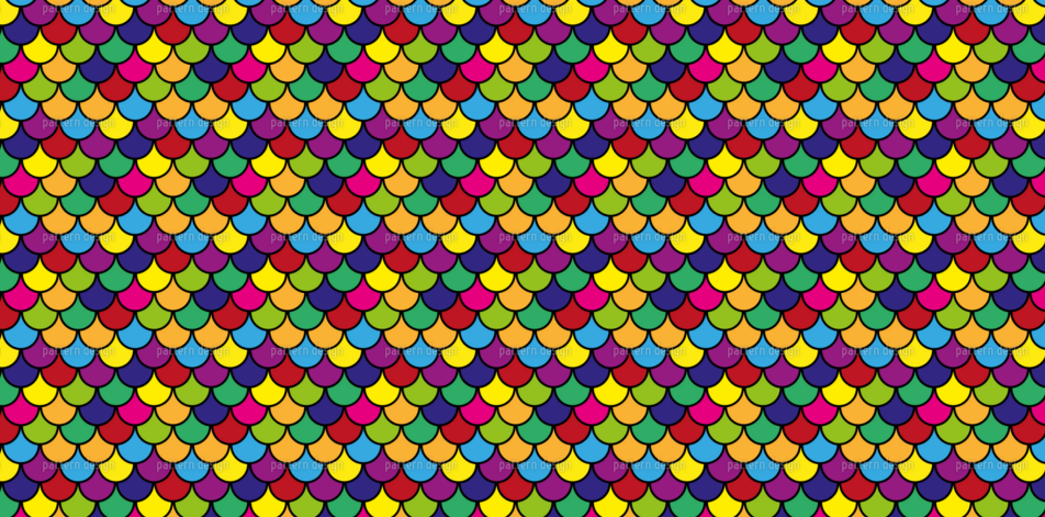 vibrant scales pattern design