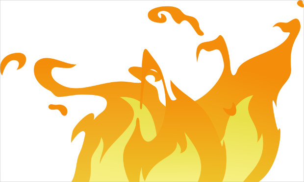 Big Fire Flame Vector