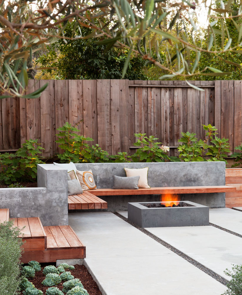 cool concrete wall patio