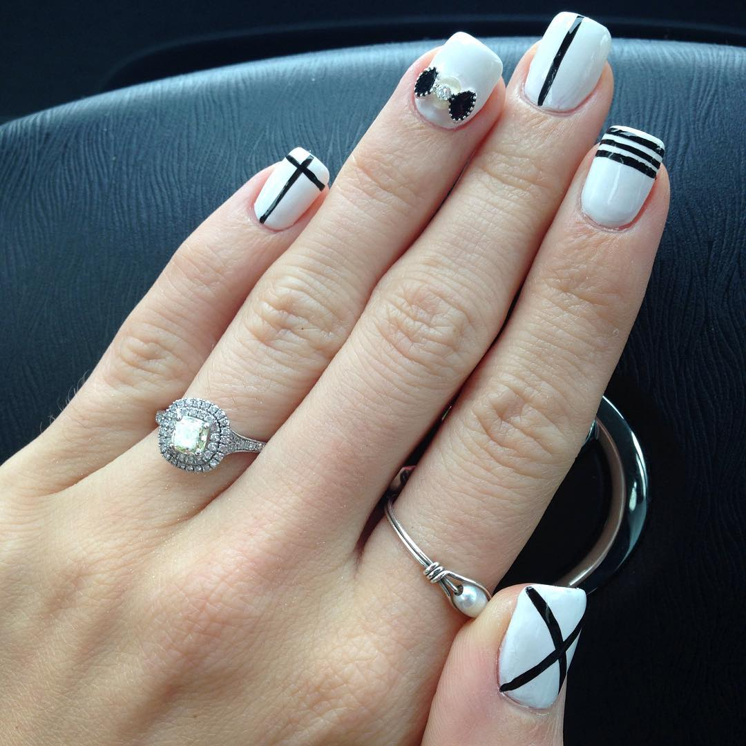 27+ White and Black Nail Art Designs, Ideas | Design Trends ...