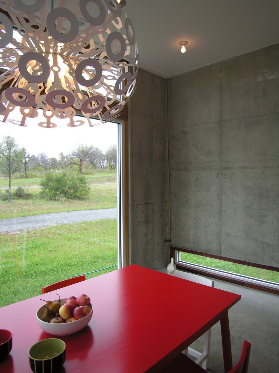 dining room concrete wall