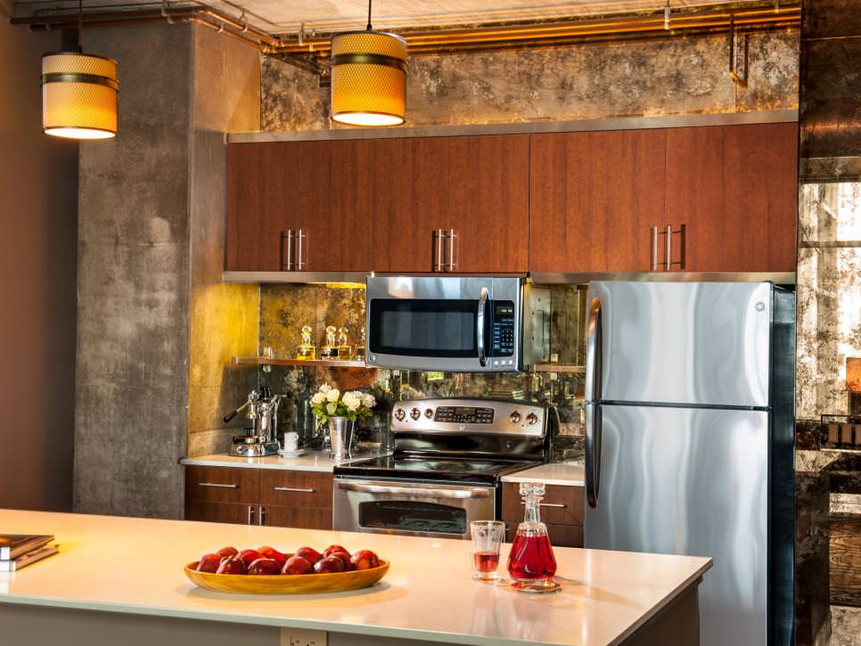 Architectural Kitchen Concrete Wall