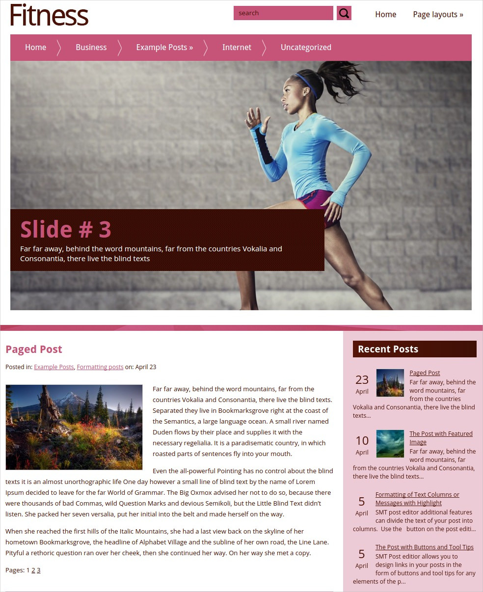 Beautiful Fitness WordPress Theme