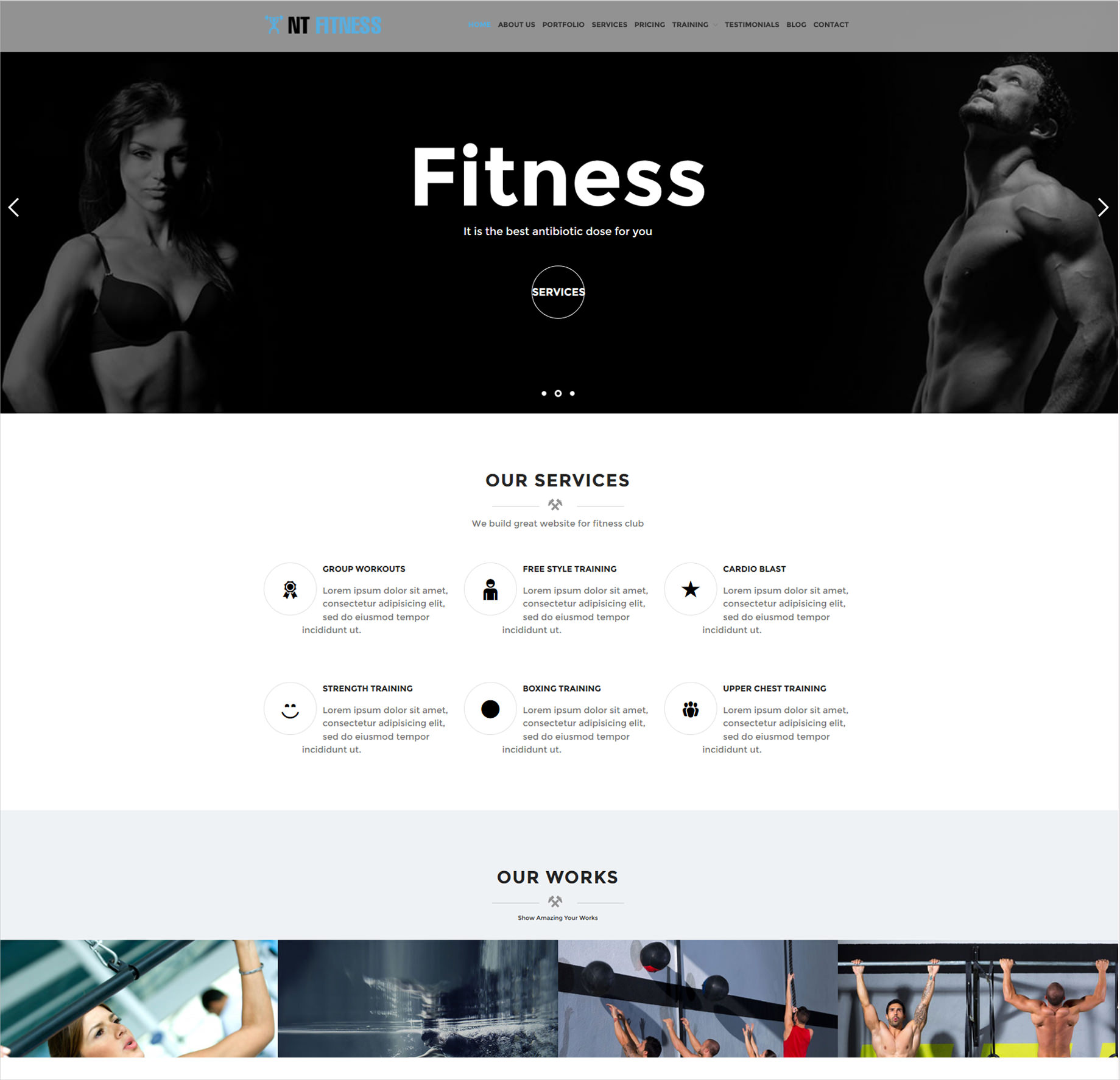 Body Building Website Template