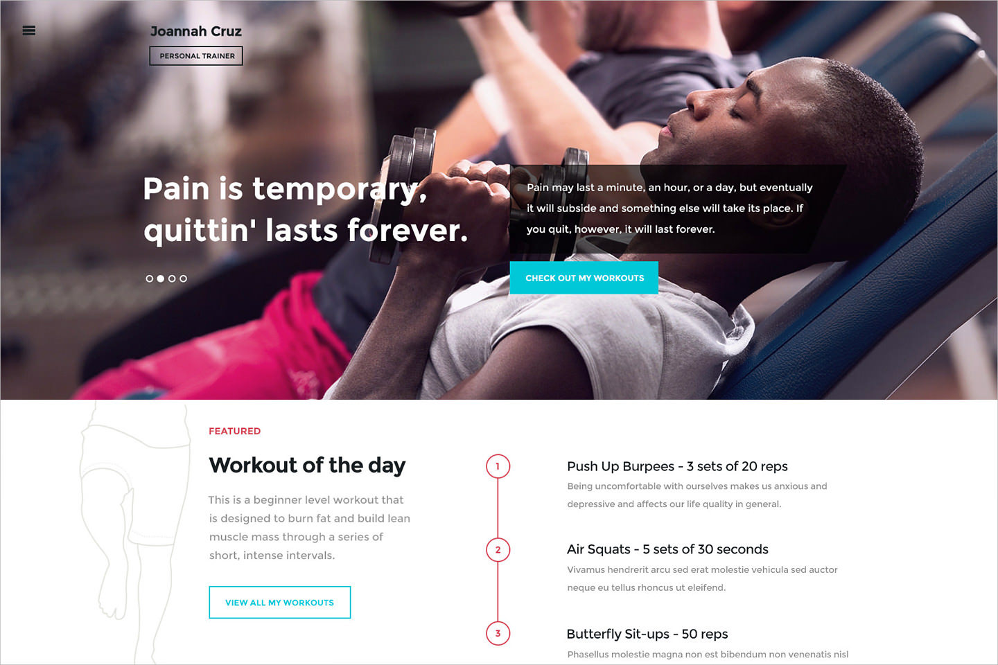 Body Workout training WP Theme