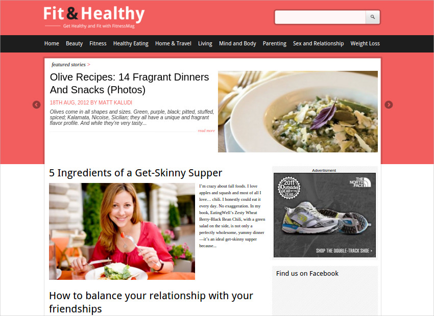 Fit & Healthy WP Theme