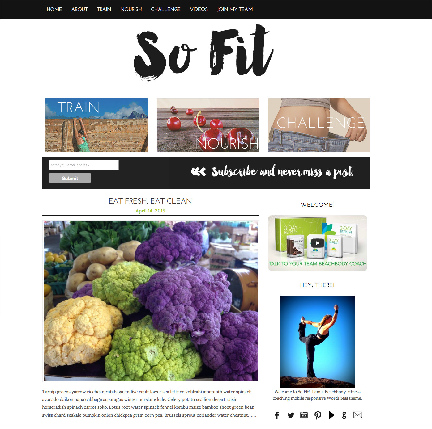 Fitness Beachbody WordPress Theme