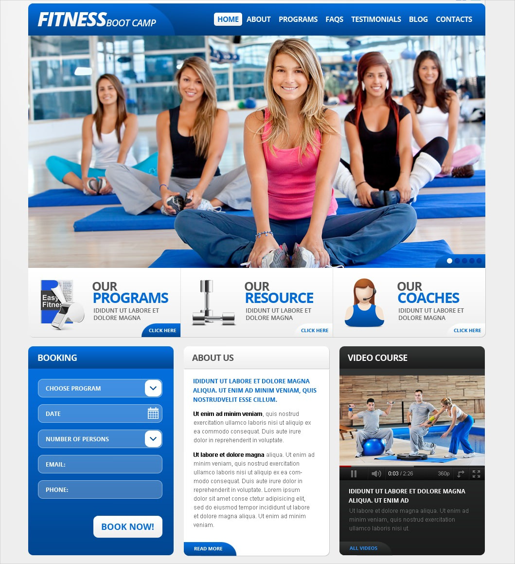 Fitness Boot Camp WP Theme