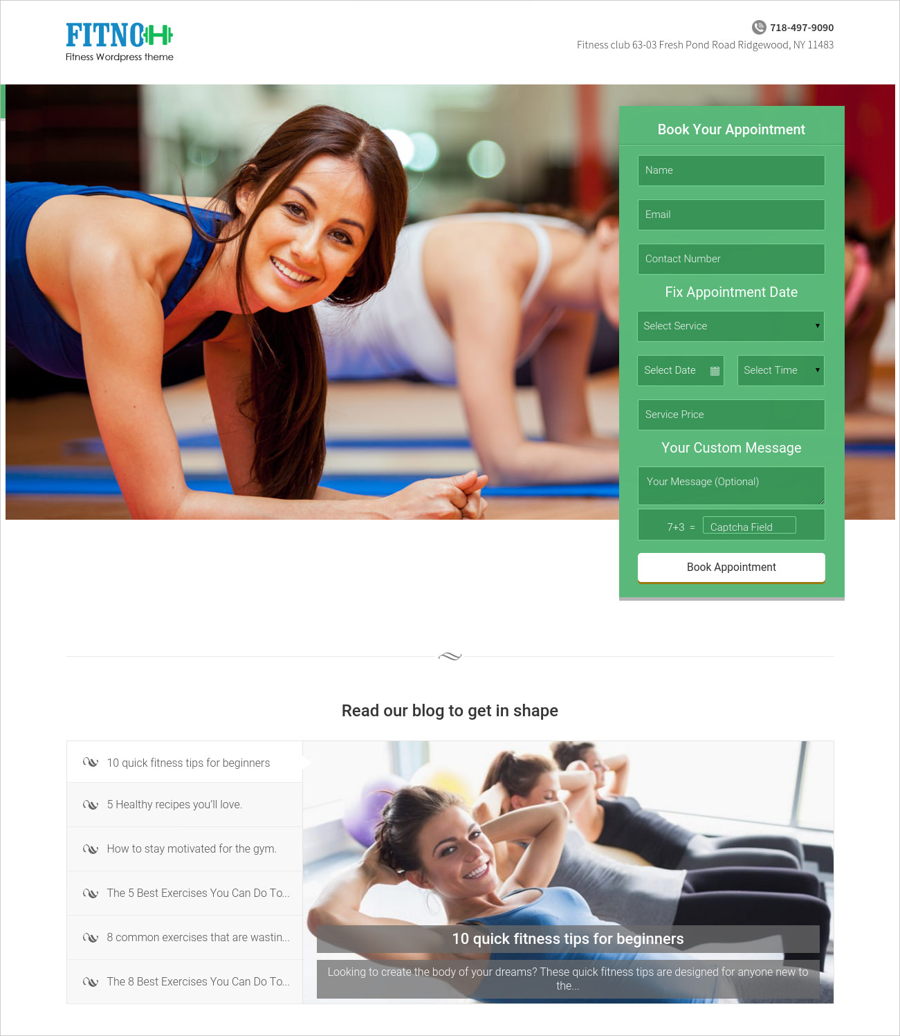 Fitness Care Center WP Theme