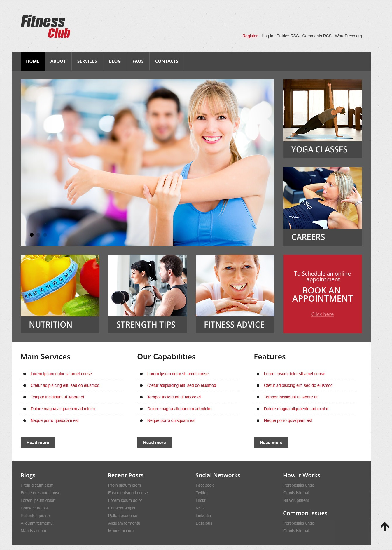 Fitness Club Responsive WP Theme