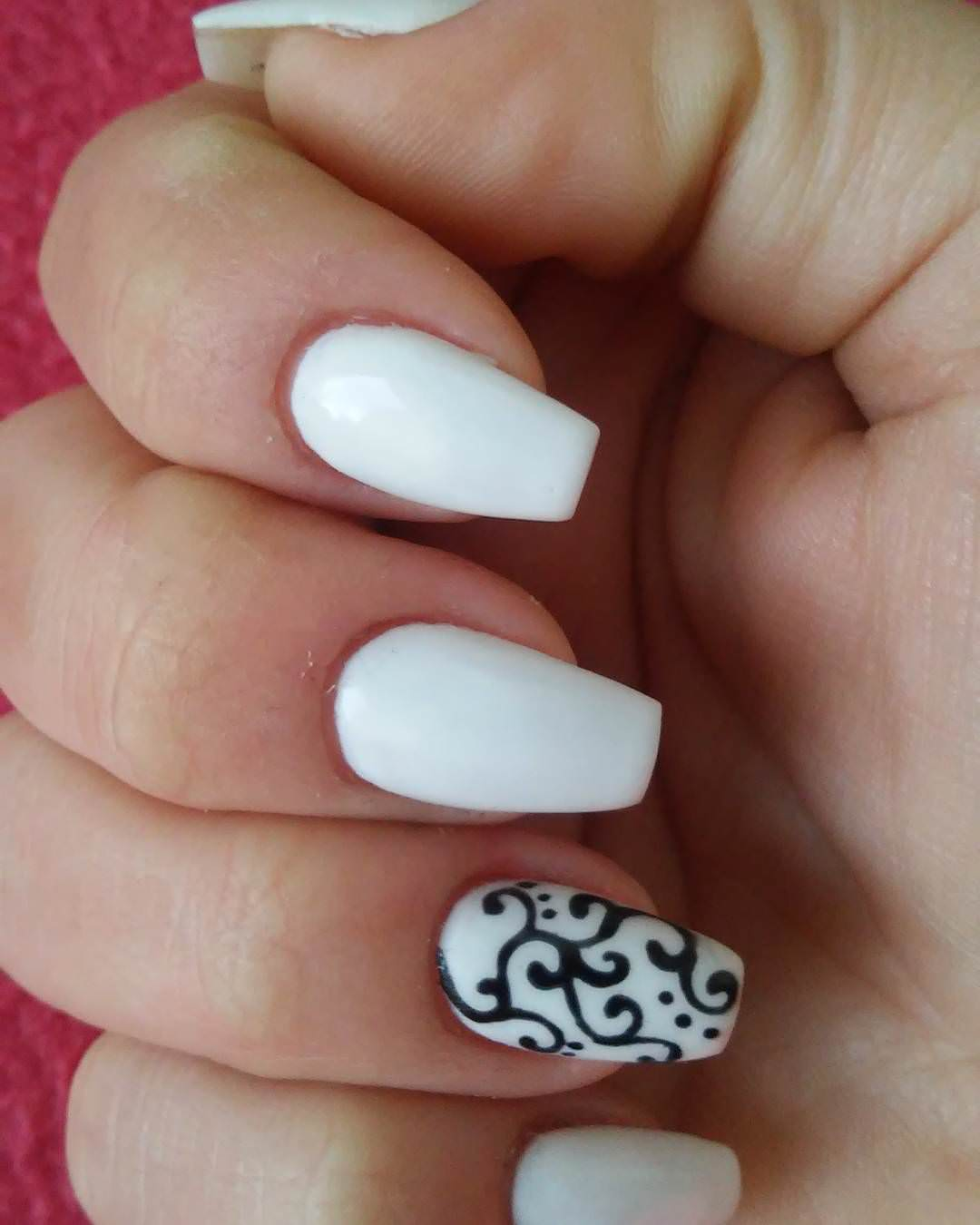 Nail Art Simple Designs: 27+ White And Black Nail Art Designs, Ideas