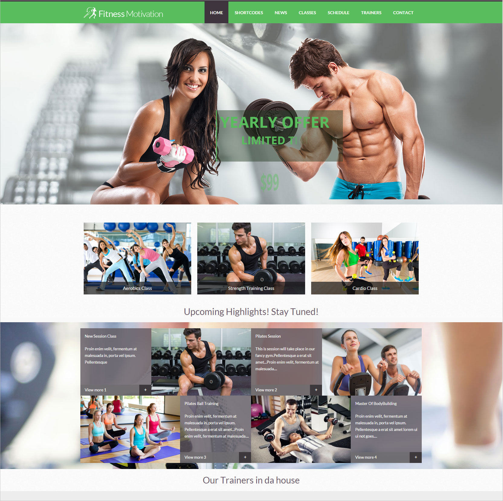 Fitness Motivation WP Theme