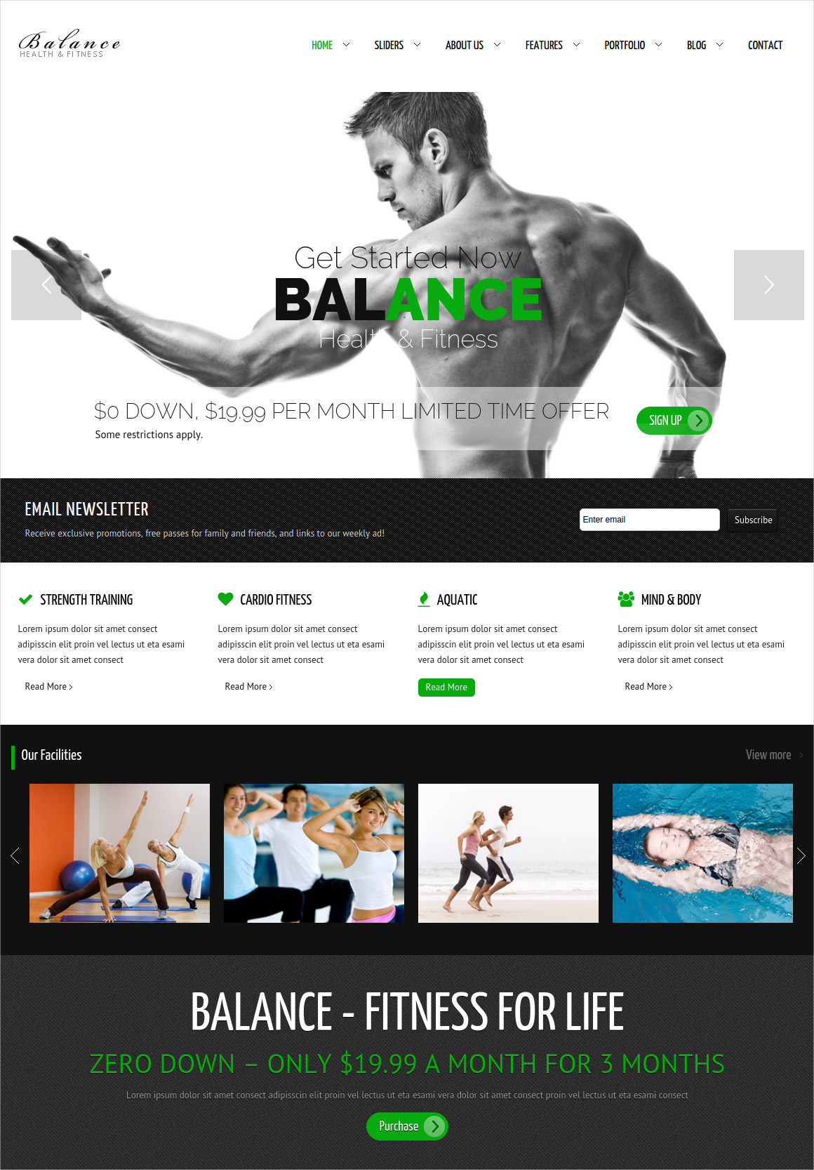 Gym Fitness WordPress HTML 5 Theme