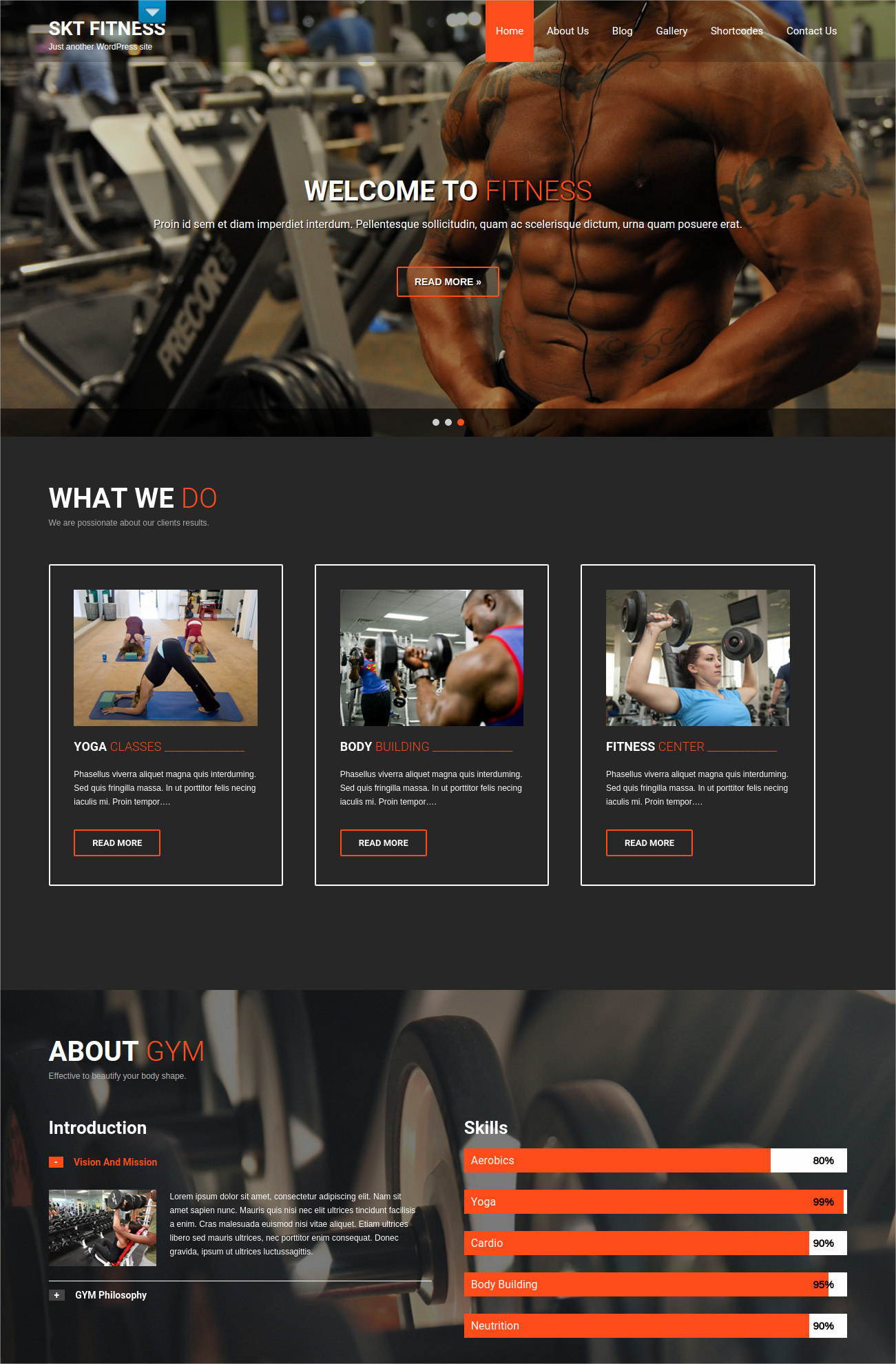 Health Workouts WP Theme