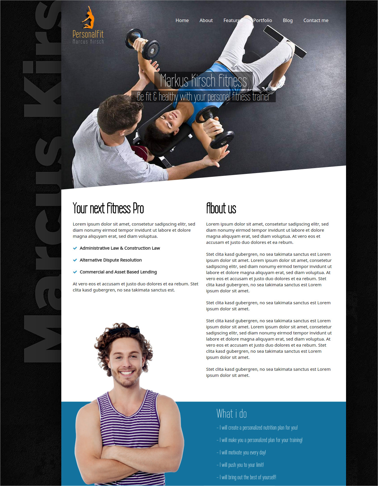 Personal Fit Sport & Gym WP Theme