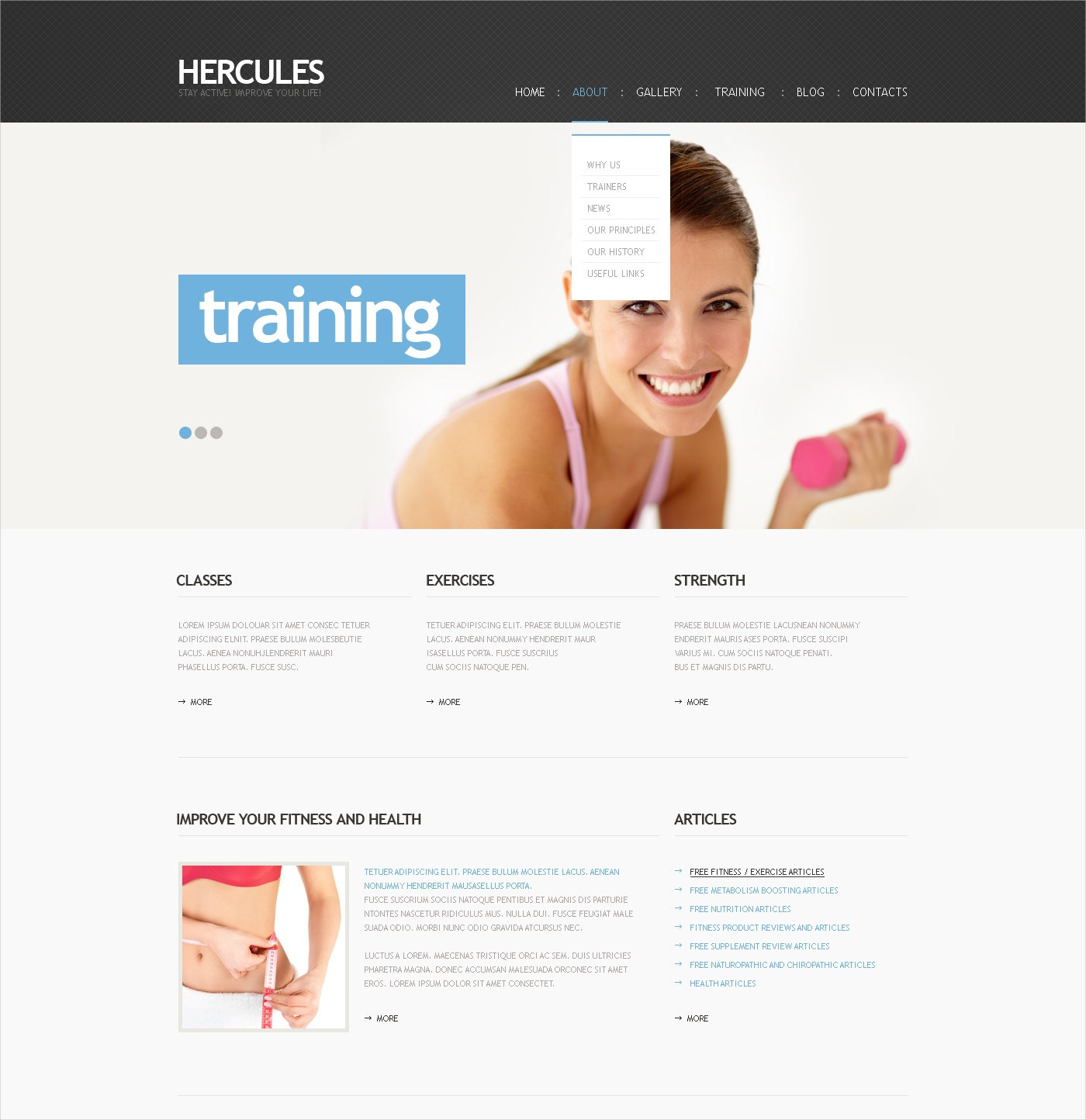 Personal Trainer WordPress Template