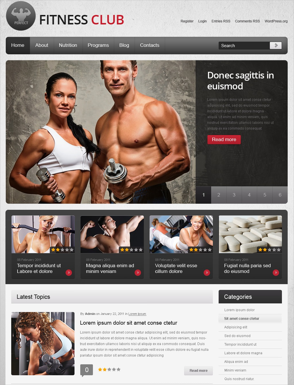 Quality Fitness WP Theme