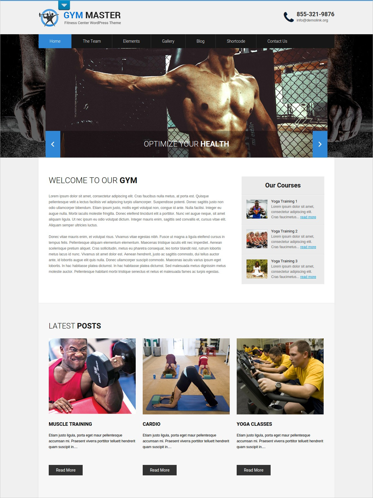 Responsive Gym WordPress Theme