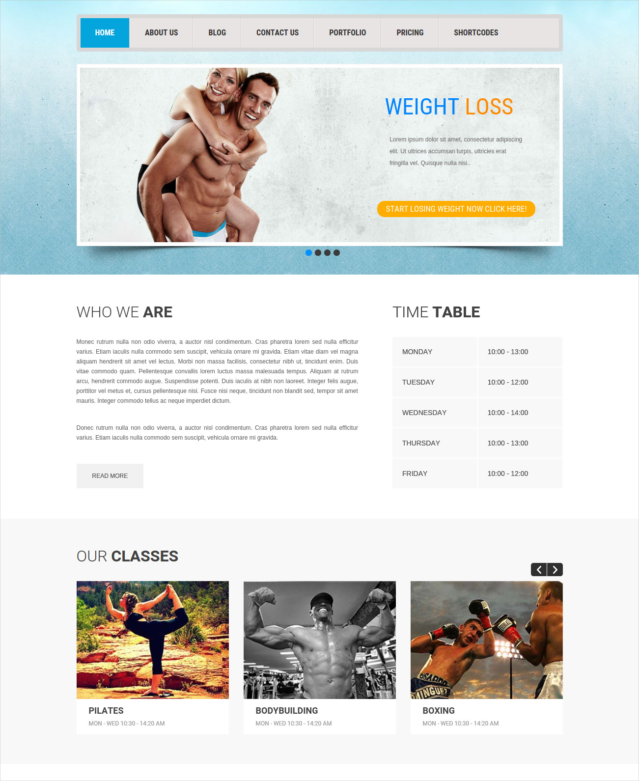 Responsive Health WordPress Theme