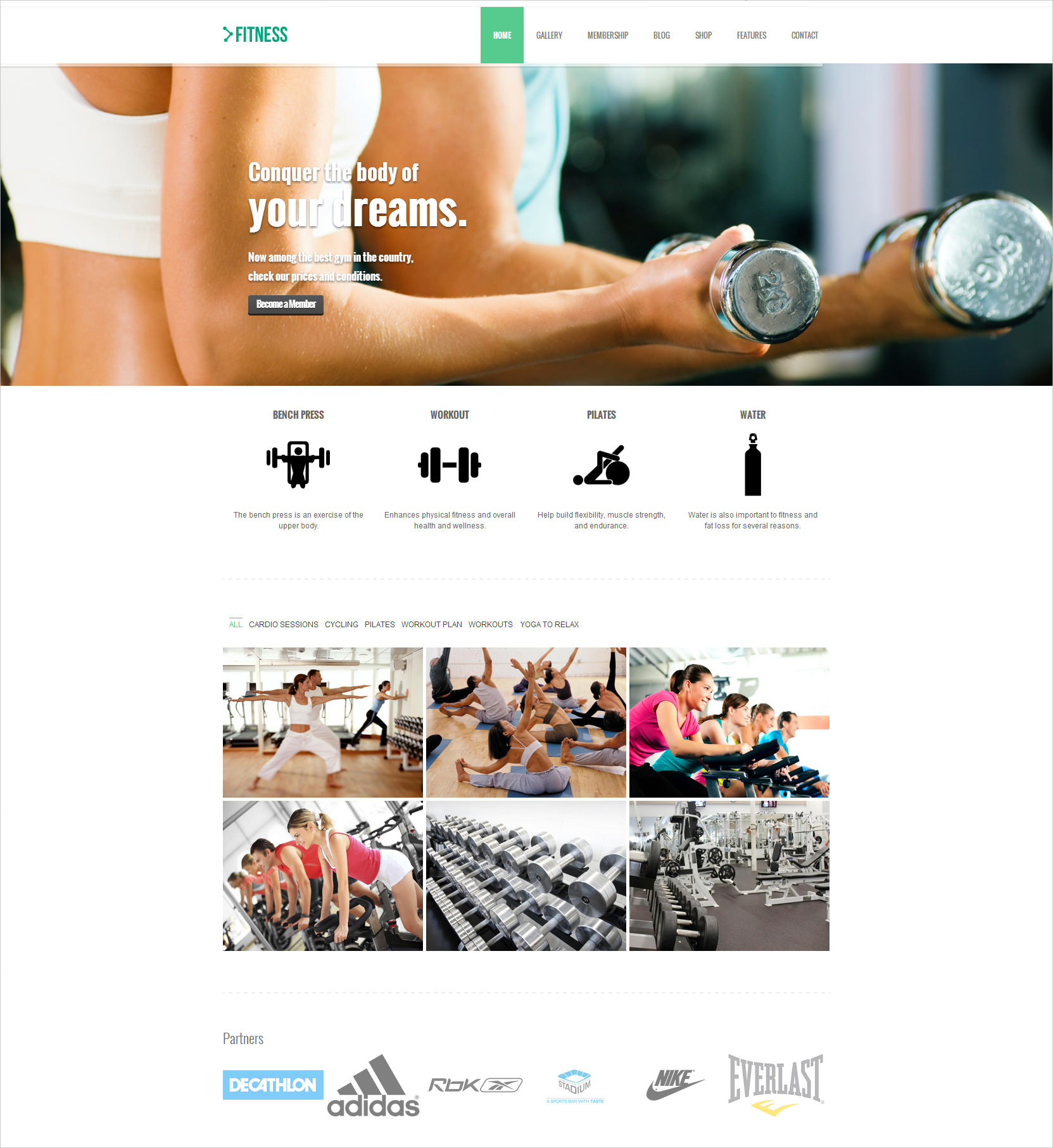Ultra Responsive Fitness Theme