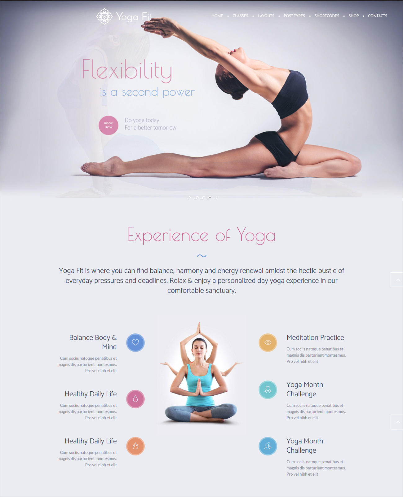 Yoga Fit WP Theme