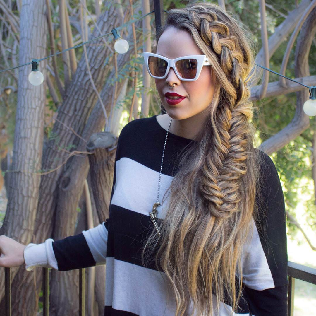 Creative Side Braid Hairstyle