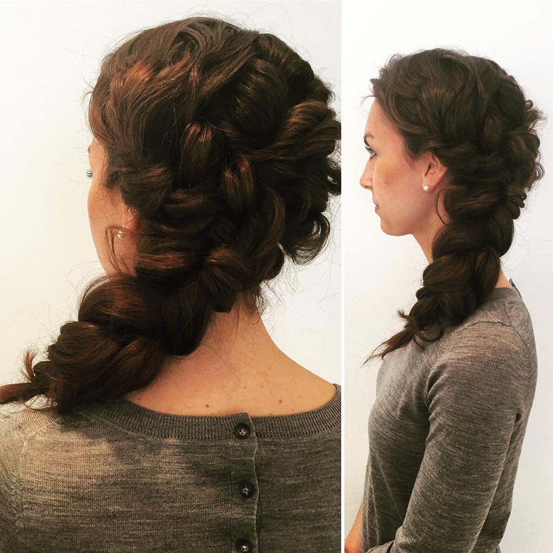 Waves Braided Hairstyle.