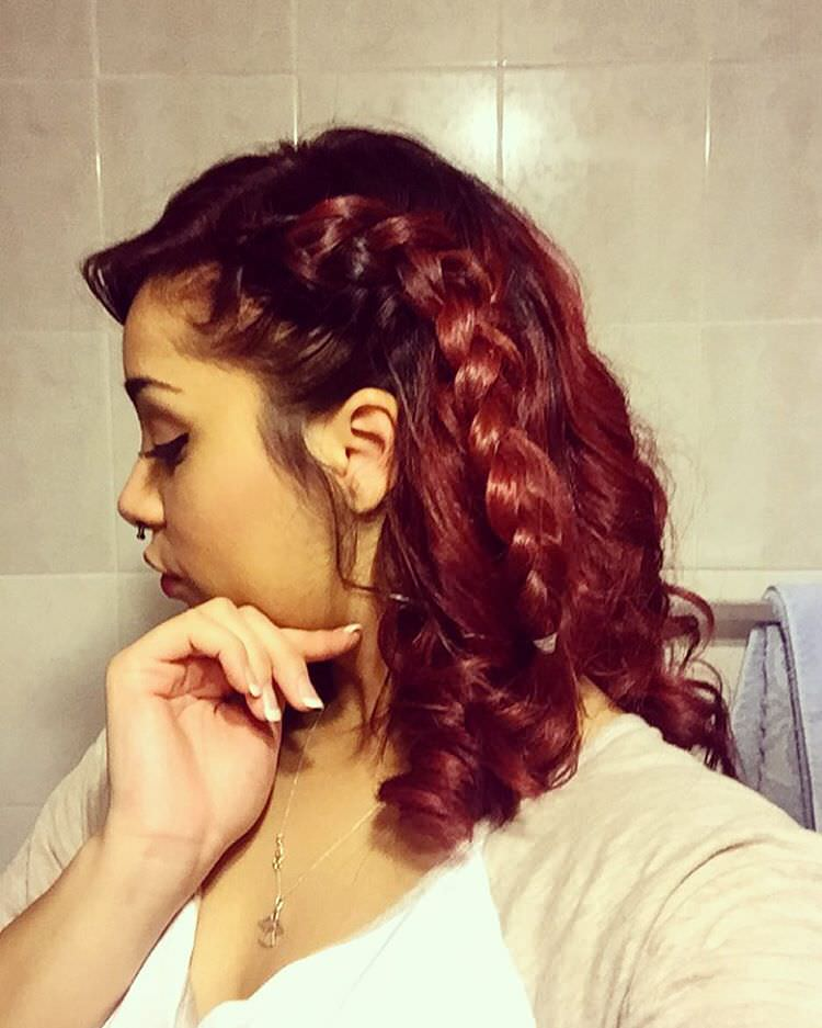 Red Colored Side Braid