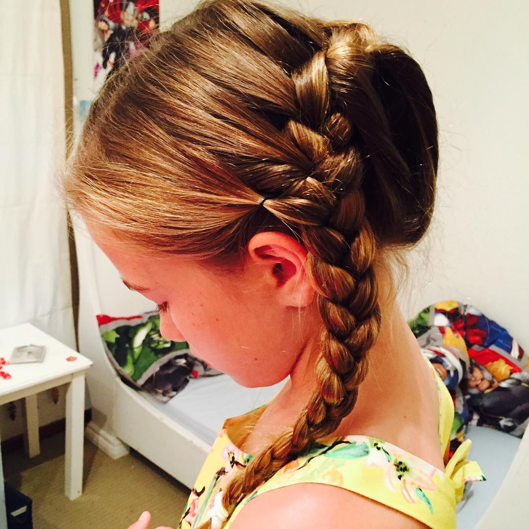 Children Side Braid Hair
