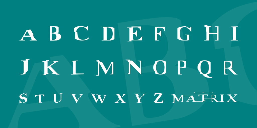 Matrix Styled Font
