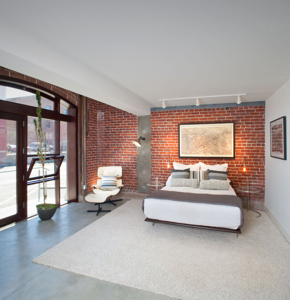 beadroom brick interior wall