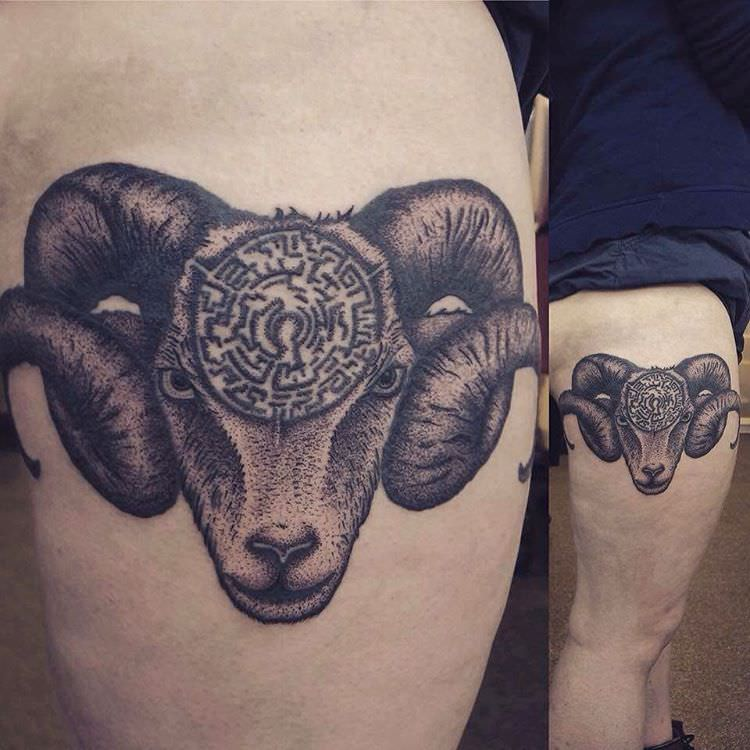Different Aries Tattoo
