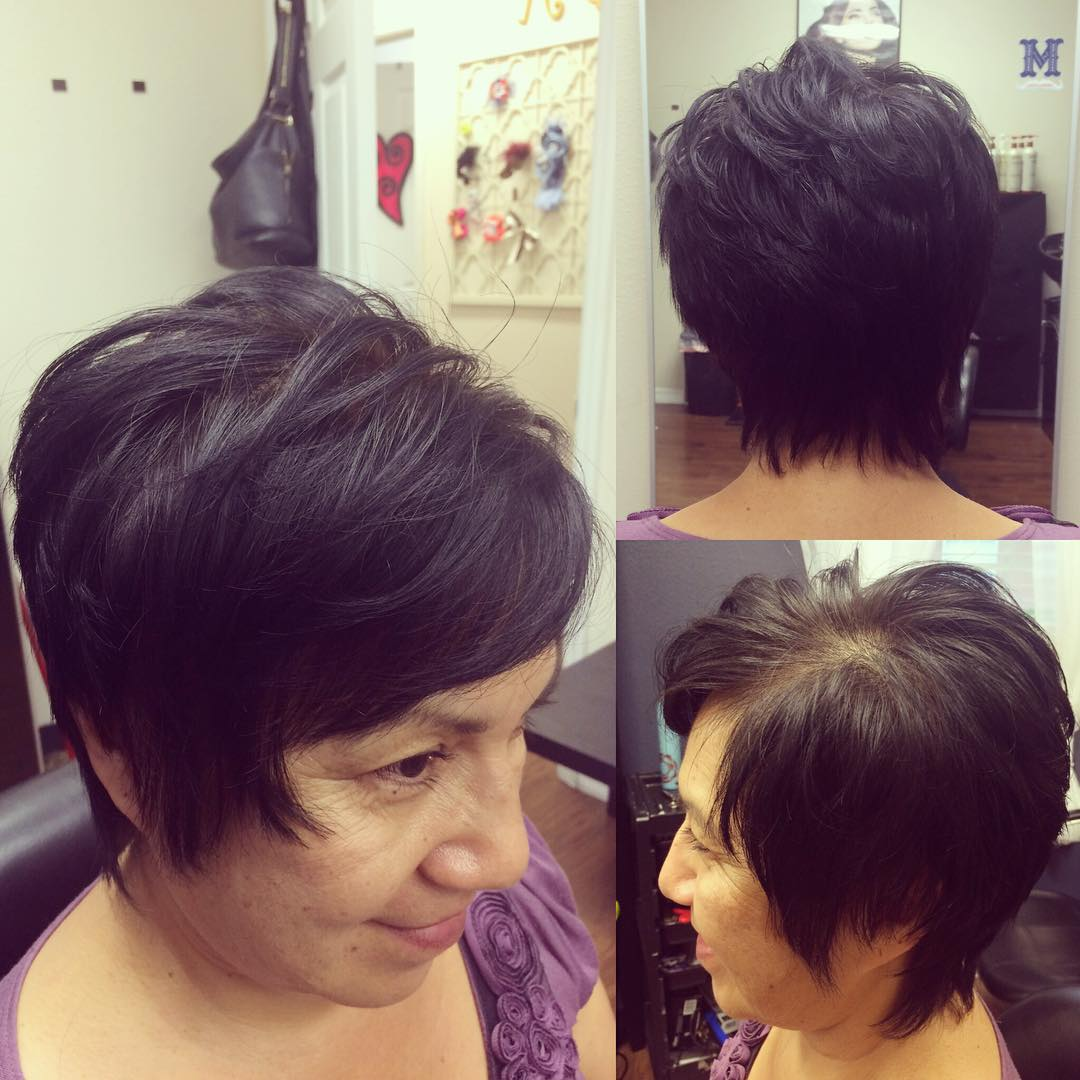 razor cut textured hair
