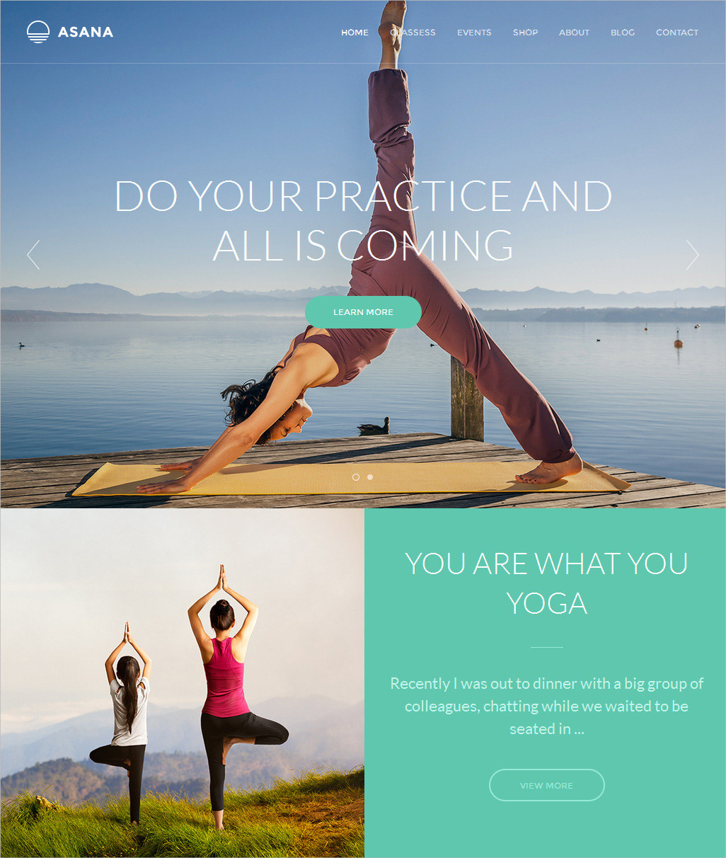Sport and Yoga WordPress Theme