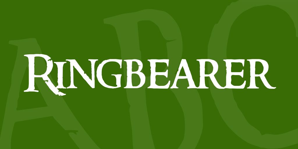 Ring Bearer Movie Font