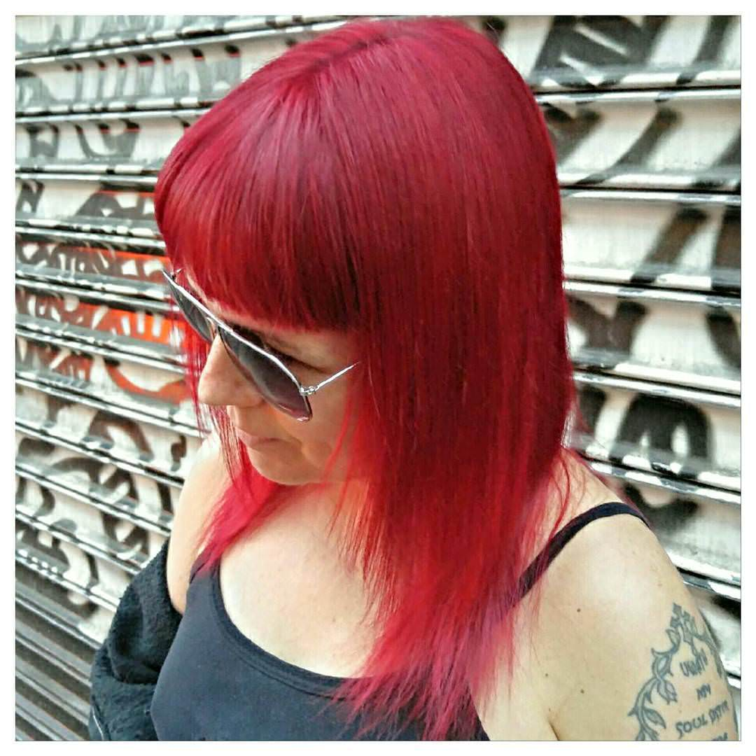 devilish red shag hair