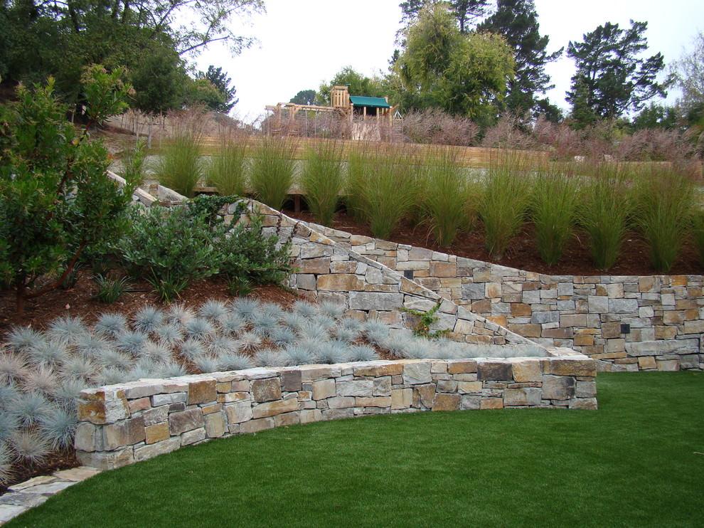 outdoor garden rock wall design