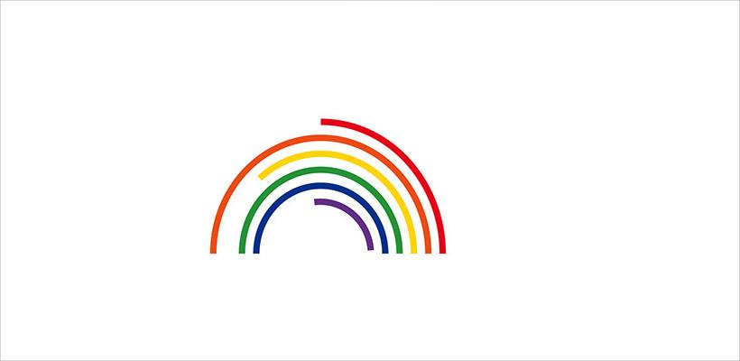 rainbow watermark design template