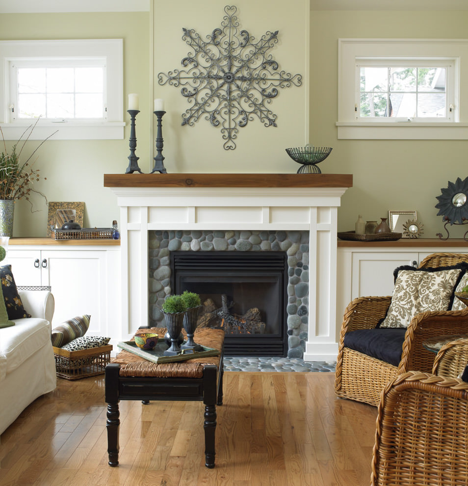 custom living room rock wall design