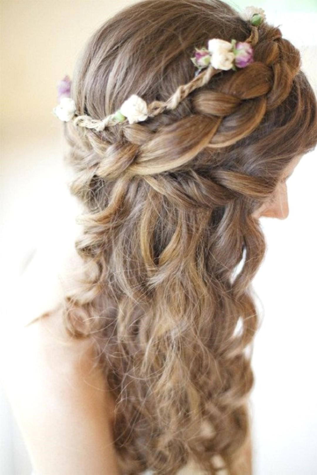 wedding hairstyles with curls and bumps