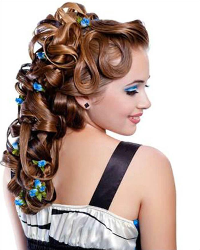 fashionable medium length prom hairstyles