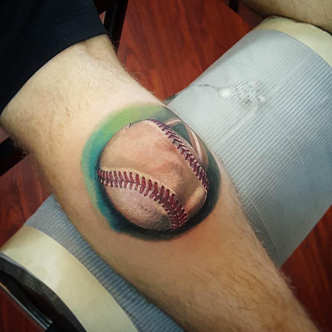 Fashionable Look Baseball Tattoos