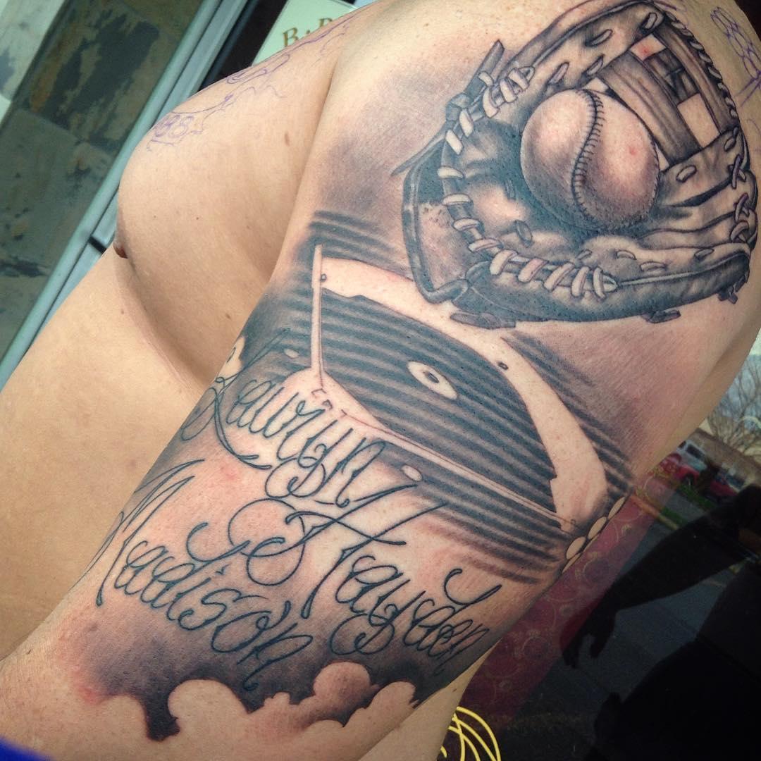 Classy Look Baseball Tattoo