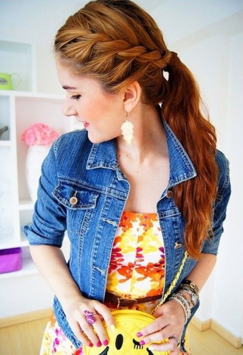 funky trends of ponytail prom hairstyles