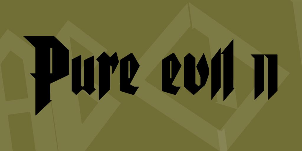 Gothic Style Black Font
