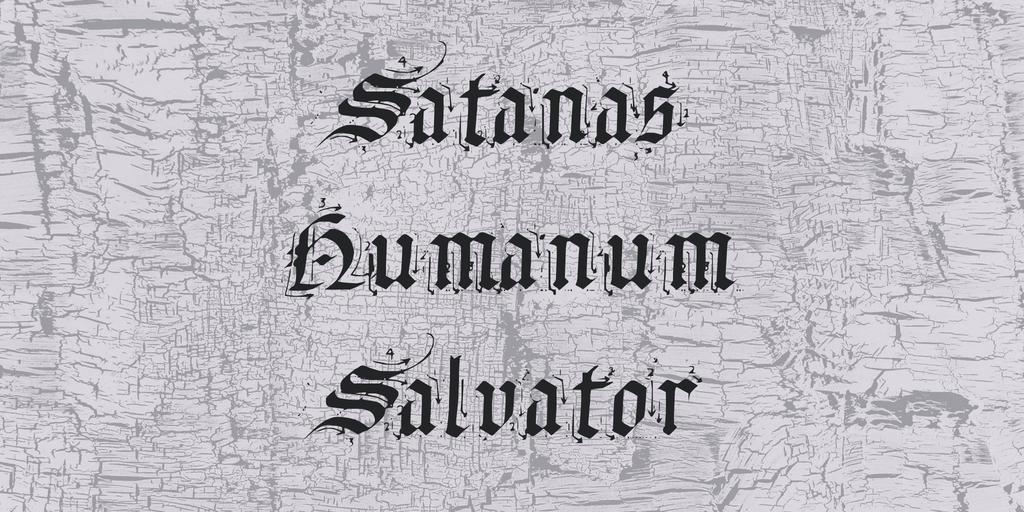 Grunge Blackletter Font