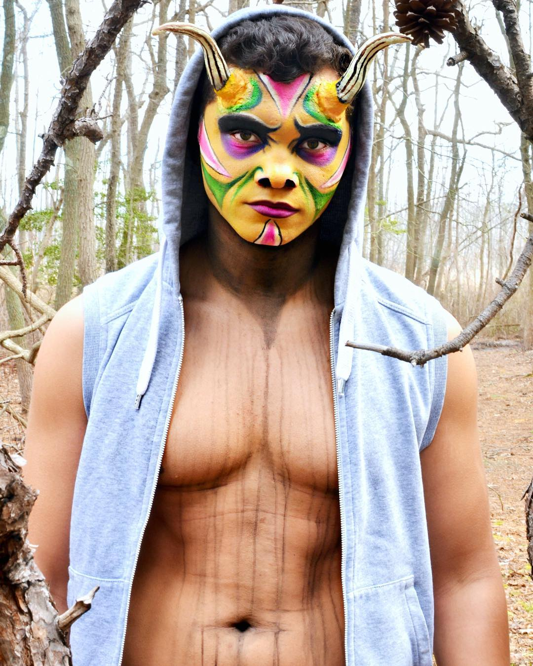 Tribal Makeup Design For Men