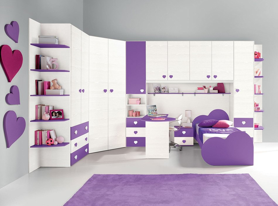 Bon Amazing Purple Children Room Design